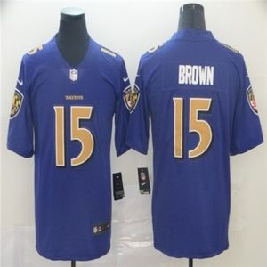 Baltimore Ravens 15 Marquise Brown Jersey